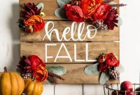 Inspiring Fall Pallet Signs Design Ideas For Your Home Decor 08