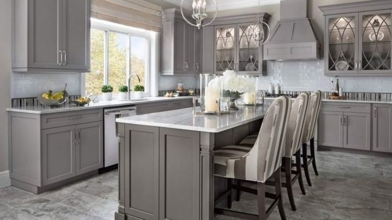 34 Lovely Grey White Kitchen Design Ideas Magzhouse