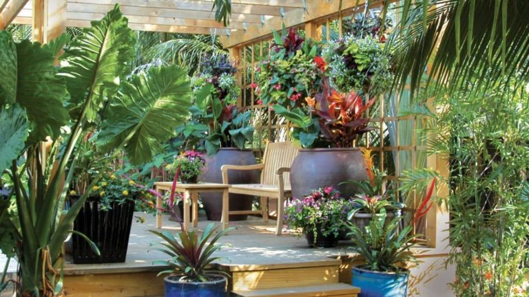34 Lovely Tropical Garden Design Ideas Magzhouse