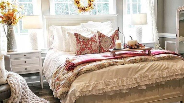 Nice Fall Bedroom Decor Ideas 13