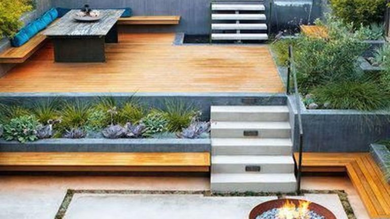 Popular Terraced Landscaping Slope Yard Design Ideas 09