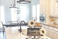 Beautiful Fall Theme Kitchen Island Decor Ideas 26