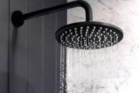 Inspiring Black Powder Room Design Ideas With Modern Style 15