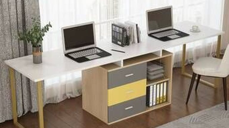 Inspiring Double Desk Home Office Design Ideas 24