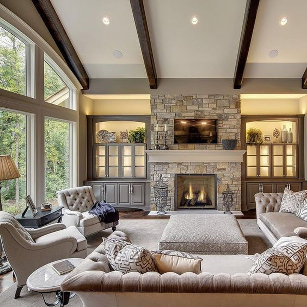 Awesome Living Room Design Ideas With Fireplace 12