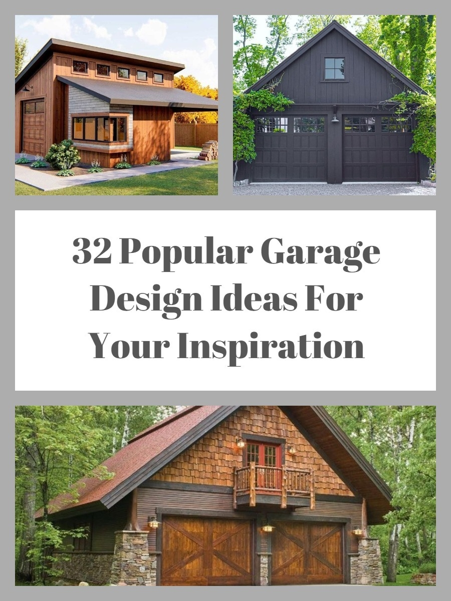 32 Popular Garage Design Ideas For Your Inspiration