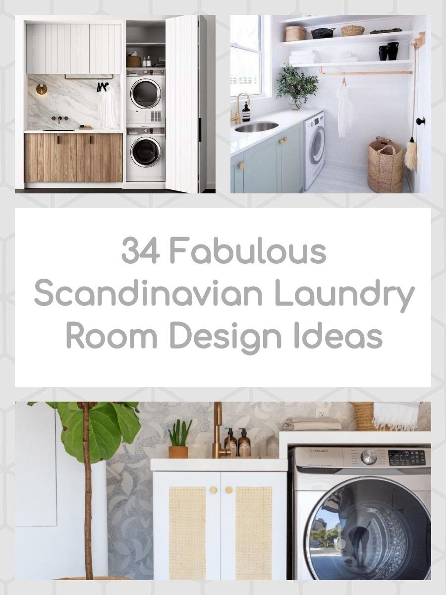 34 Fabulous Scandinavian Laundry Room Design Ideas