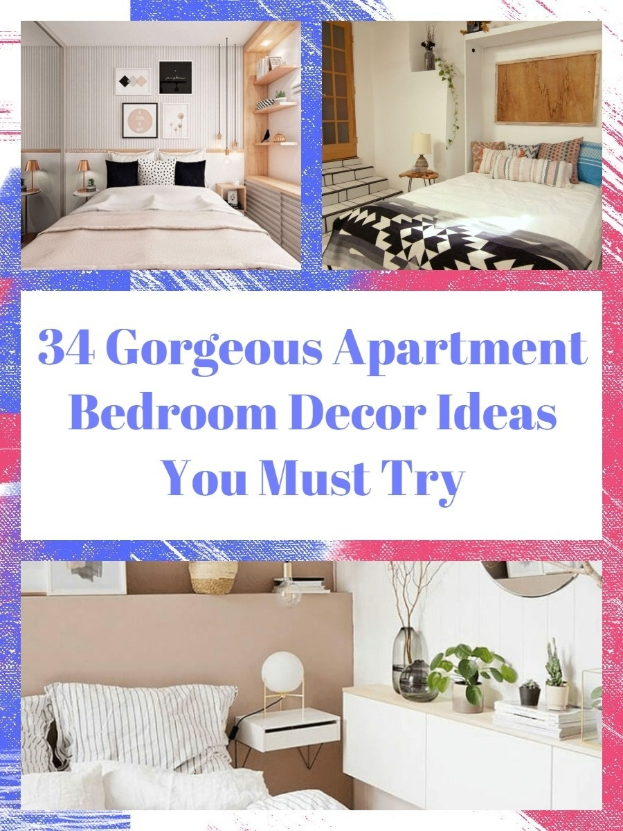 34 Gorgeous Apartment Bedroom Decor Ideas You Must Try