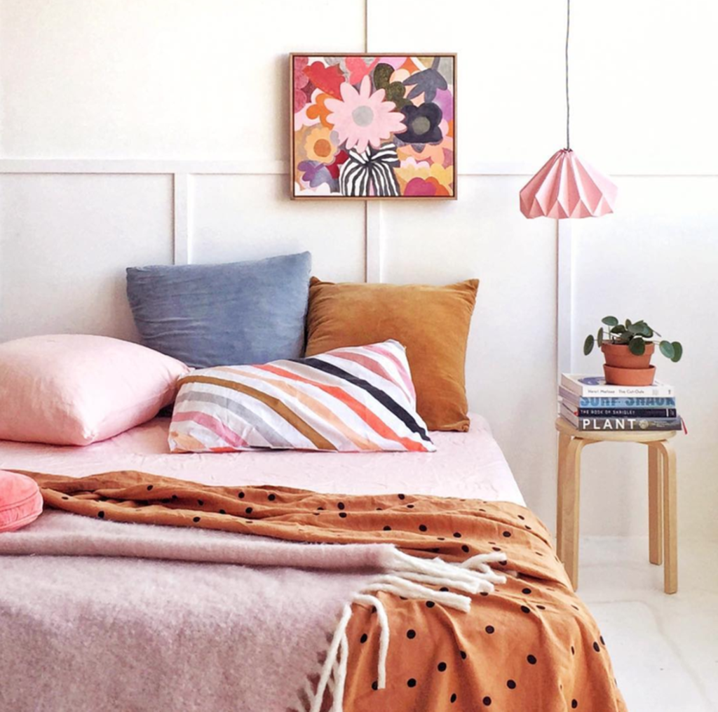 Popular Summer Bedding Ideas To Beautify Your Bedroom 06