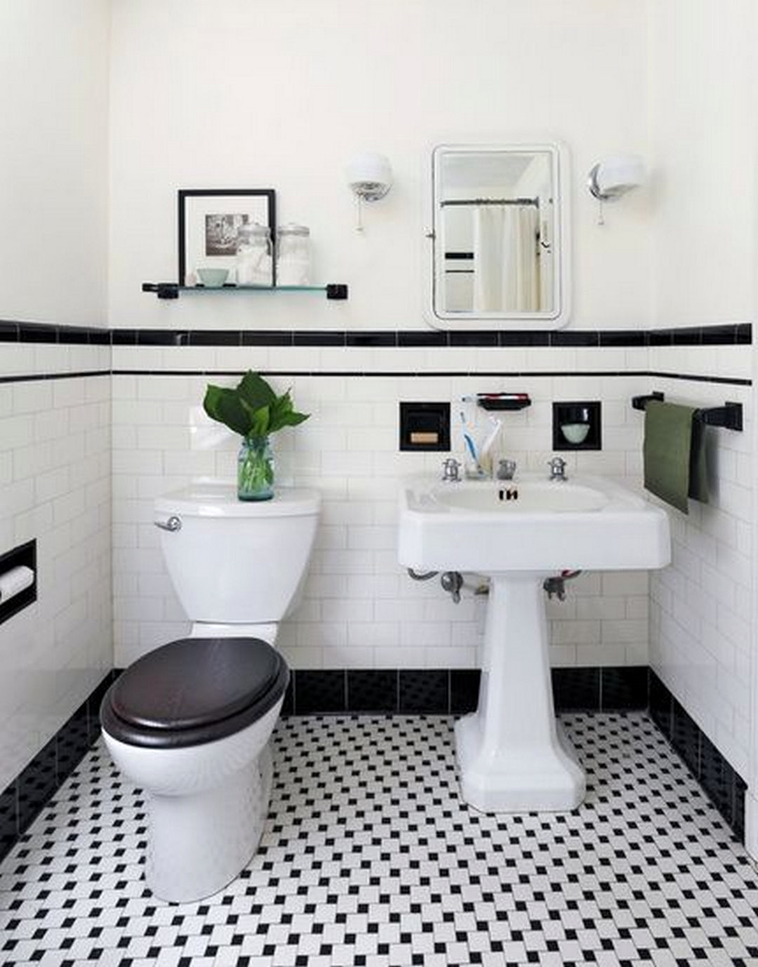 Black And White Bathroom Pictures