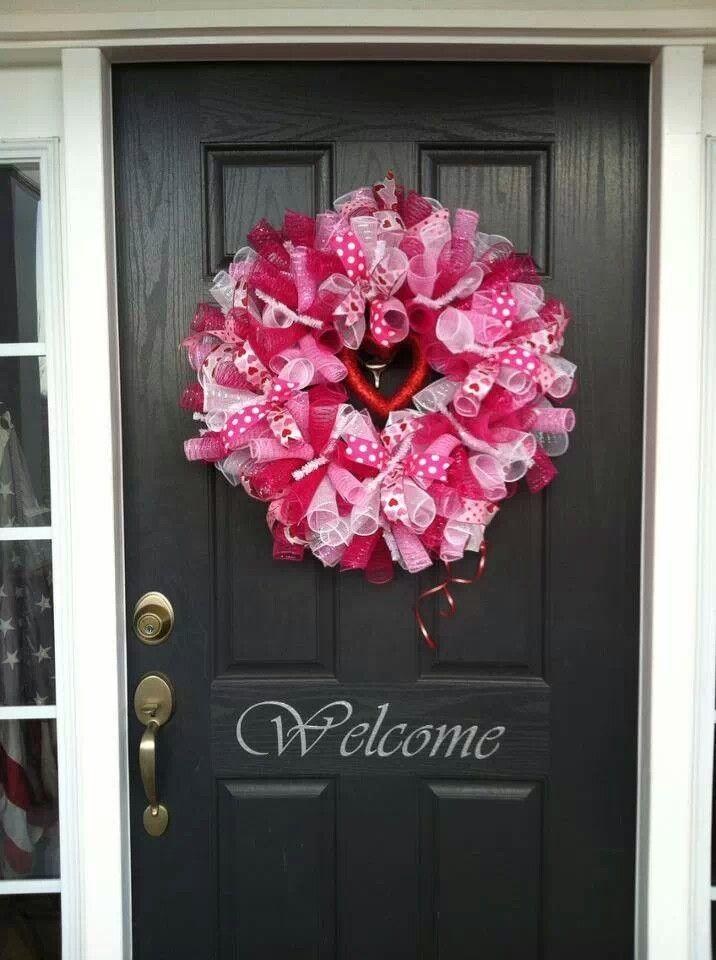 Valentine Front Door Decorations