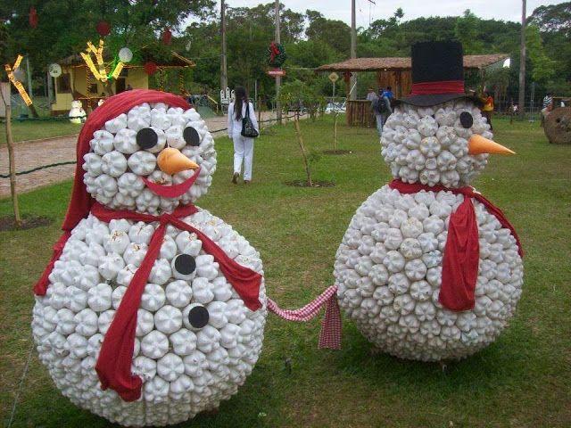 DIY Snowman Outdoor Decorations