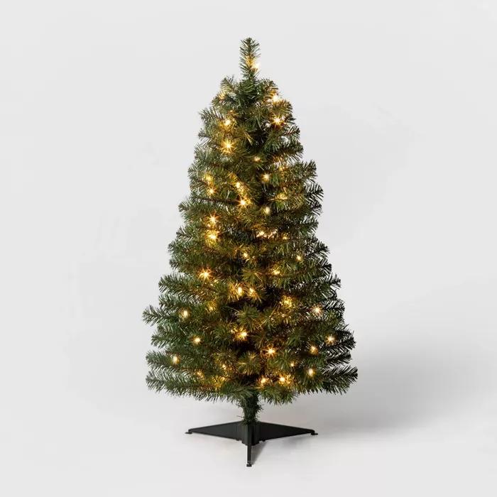 3ft Christmas Tree With Lights