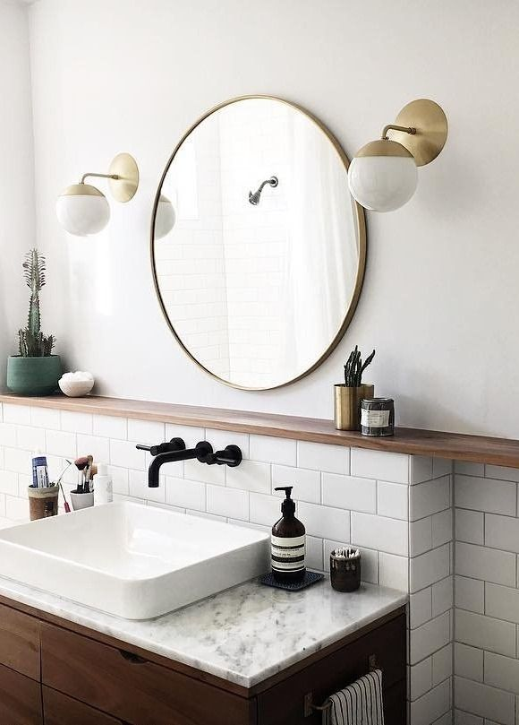 Brass Bathroom Mirror