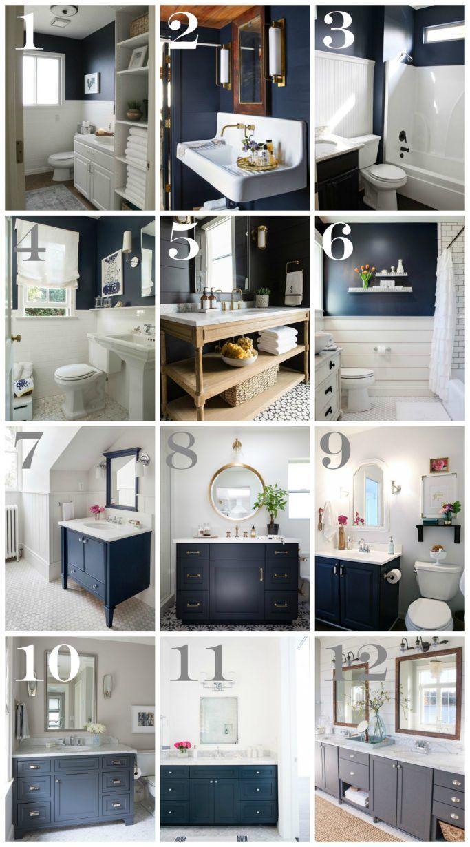Navy Blue Bathroom Decor