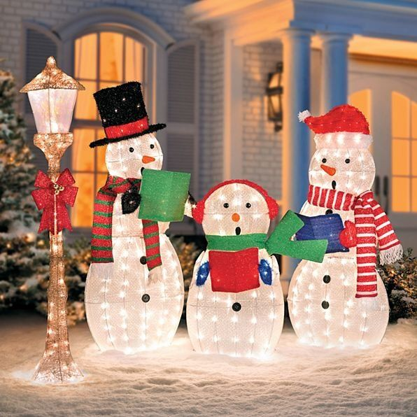 Snowman Family Outdoor Decorations