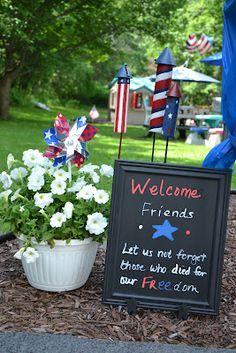 Memorial Day Outdoor Decorations