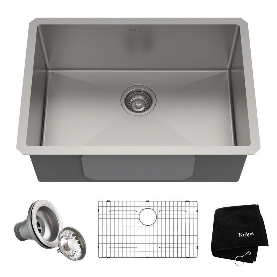 Kraus Kitchen Sink Single Bowl Undermount Stainless Steel