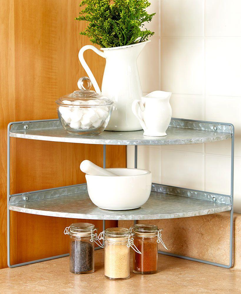 Kitchen Counter Corner Shelf