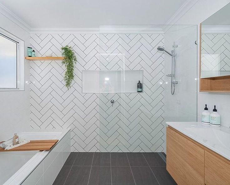 Herringbone Tiles Bathroom