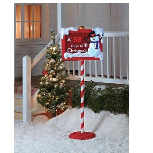 Christmas Countdown Outdoor Decoration