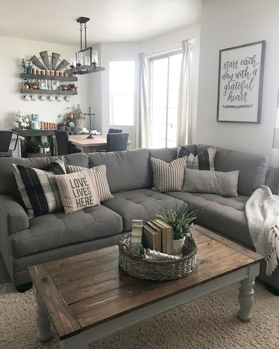 Farmhouse Living Room Grey