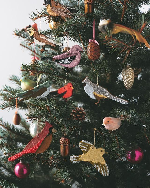 Bird Christmas Tree Ornaments