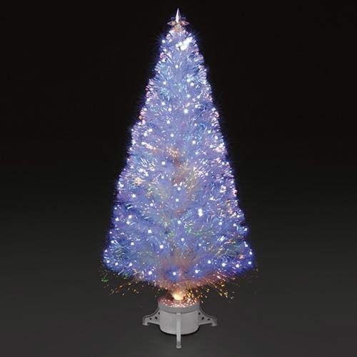 White Fibre Optic Christmas Tree