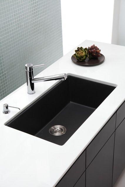 Black Undermount Kitchen Sink