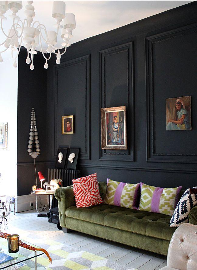 Black Wall Living Room