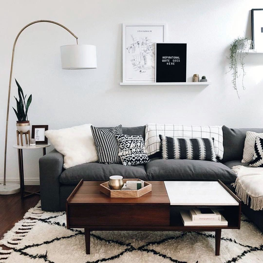Dark Grey Couch Living Room