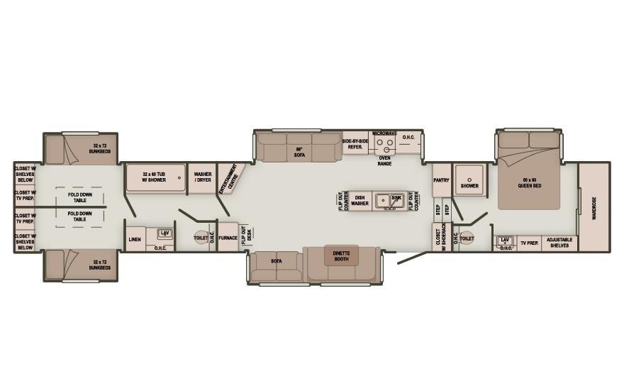 2 Bedroom 5th Wheel