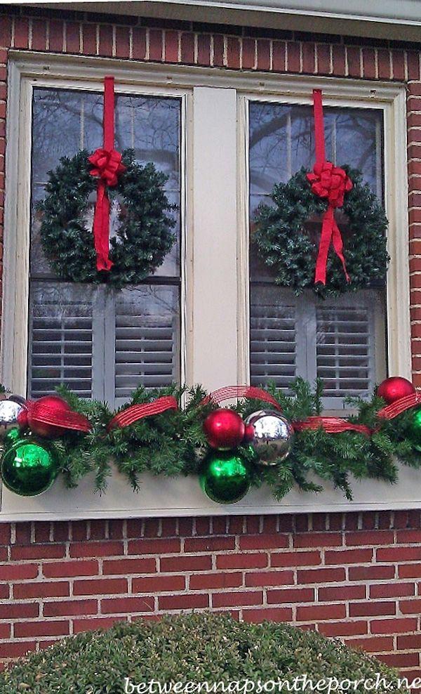 Outdoor Christmas Window Decorations