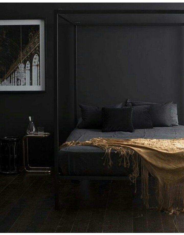 All Black Bedroom