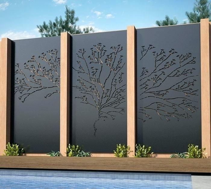 Outdoor Decorative Metal Privacy Screens