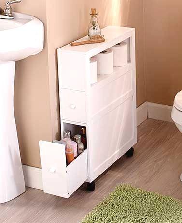 Slim Bathroom Storage