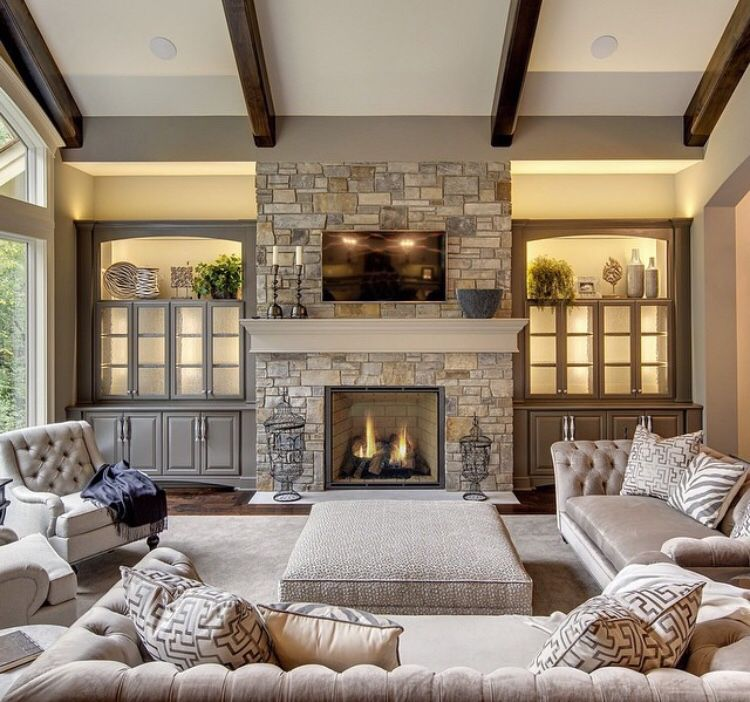 Living Room Fireplace Decor