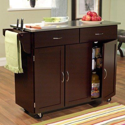 Kitchen Cart Stainless Steel Top