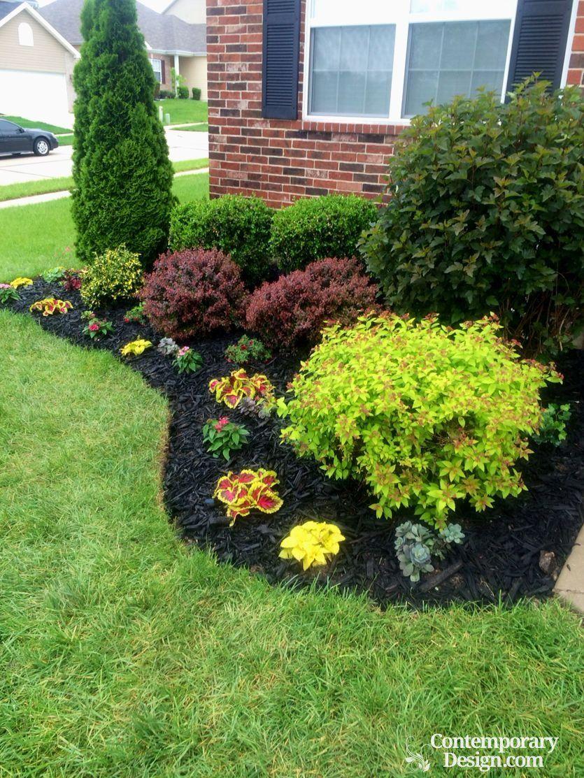 Black Mulch Garden Ideas