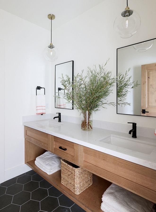 White Oak Bathroom Vanity