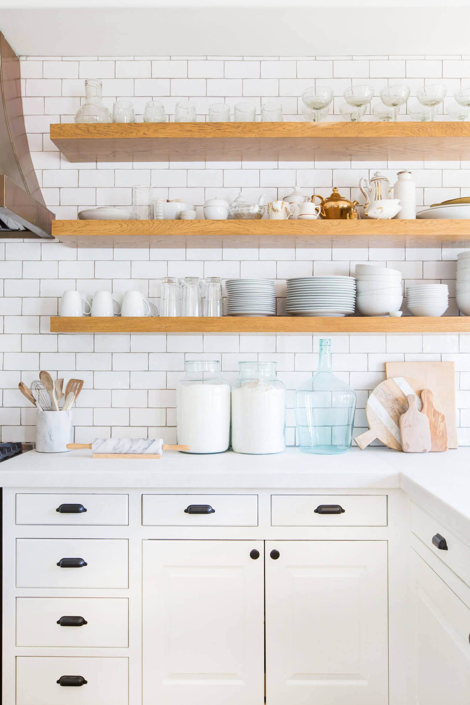 Kitchen With Shelves Instead Of Cabinets