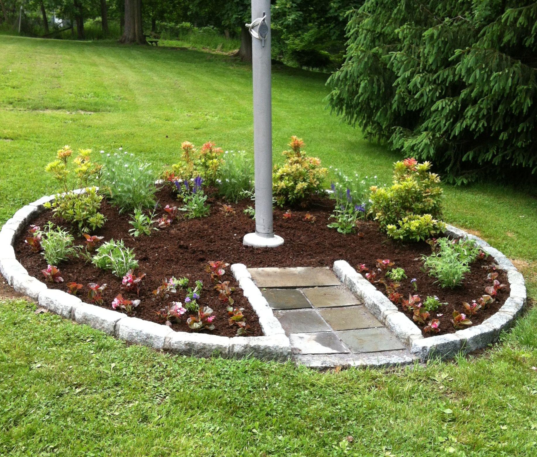 Flag Pole Garden Ideas