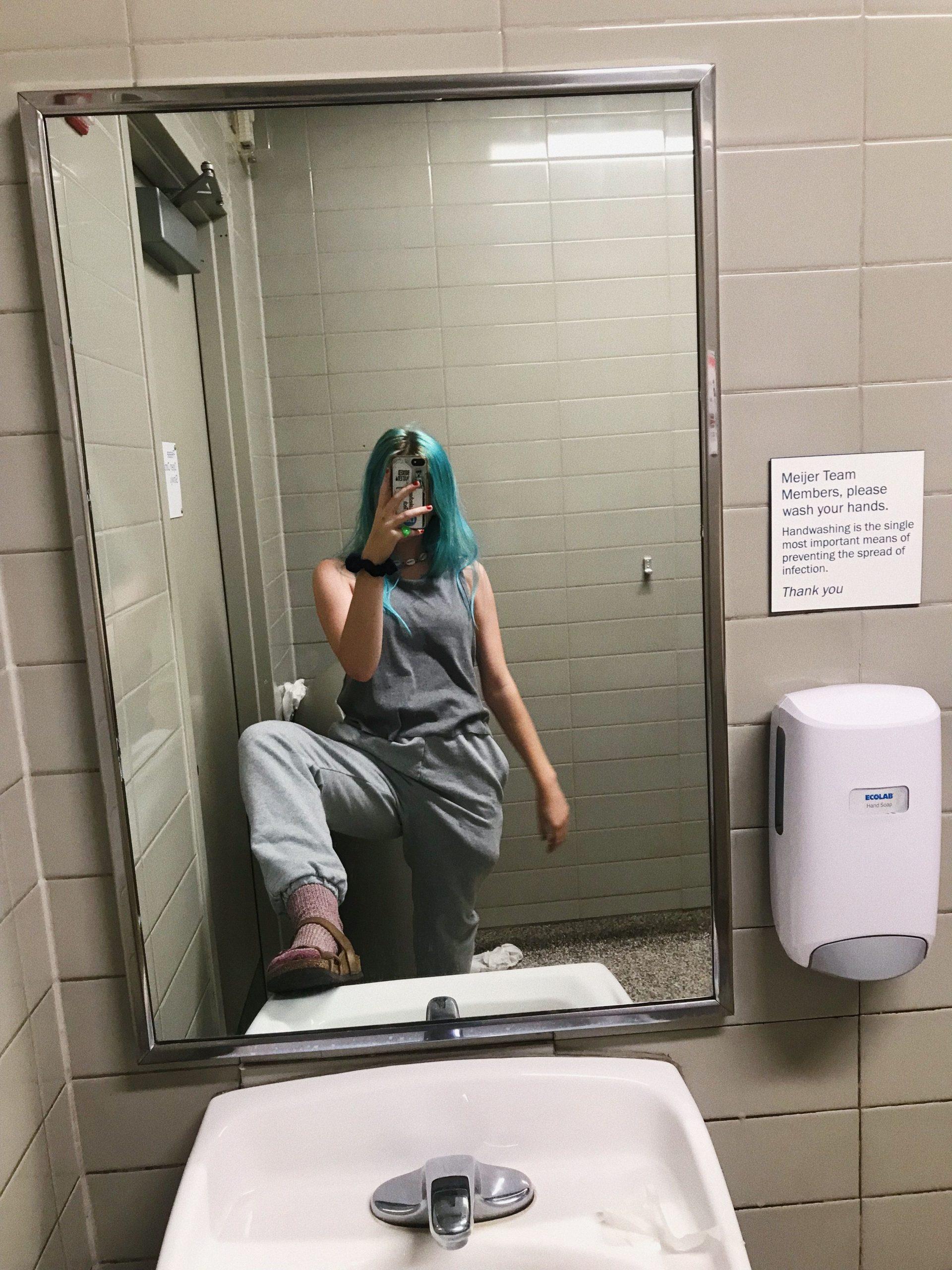 Gas Station Bathroom