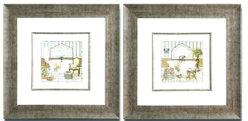 Framed Bathroom Art