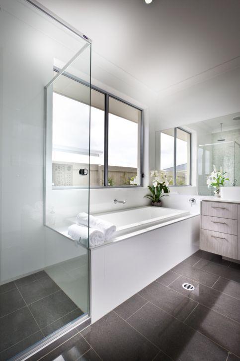 Dark Floor Bathroom