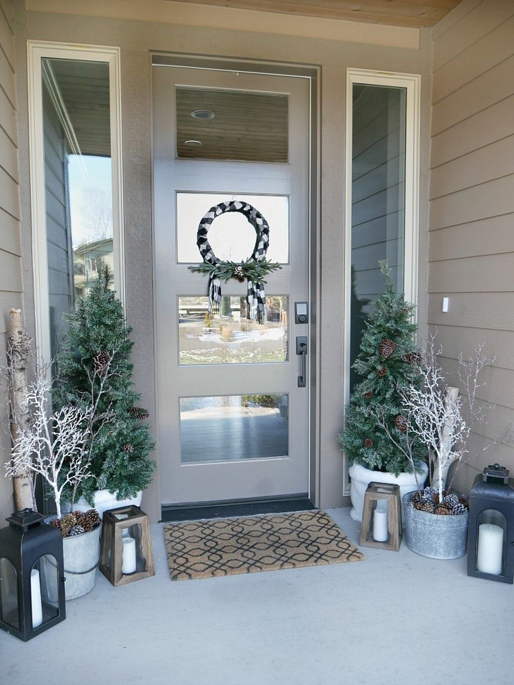 Winter Outdoor Decorations Porch