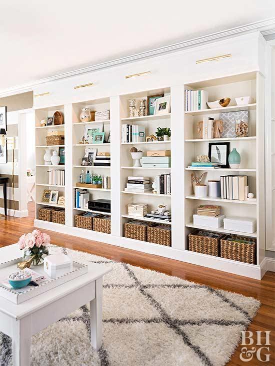 Living Room Built In Shelves