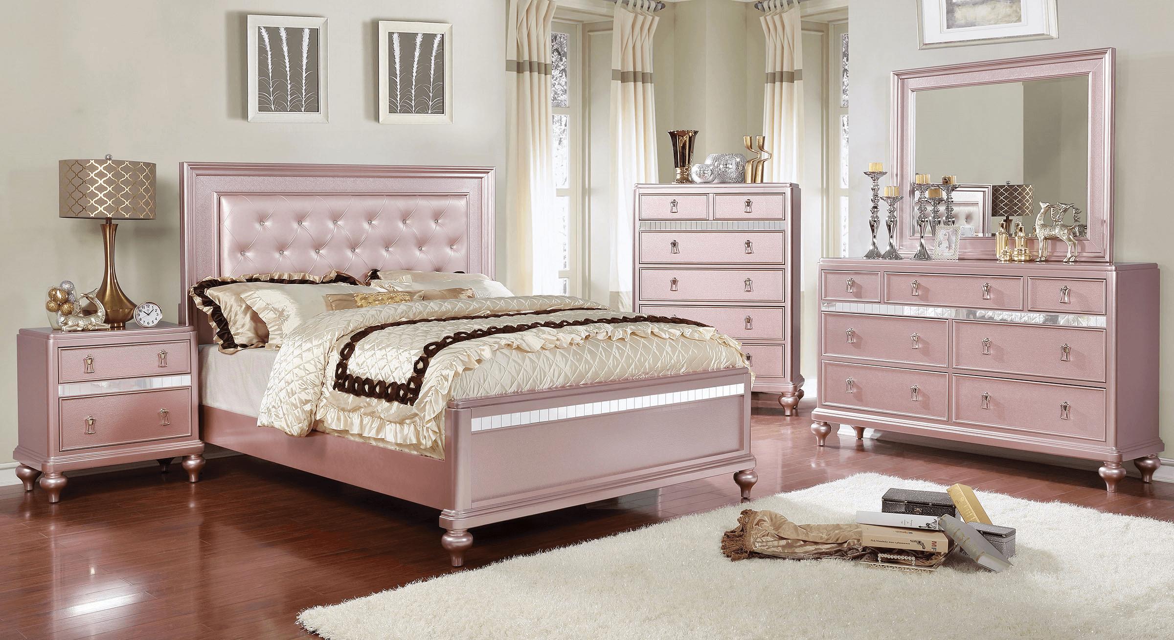 Rose Gold Bedroom Set