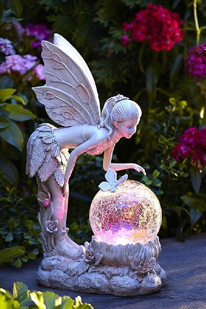 Solar Garden Ornaments Outdoor Decor