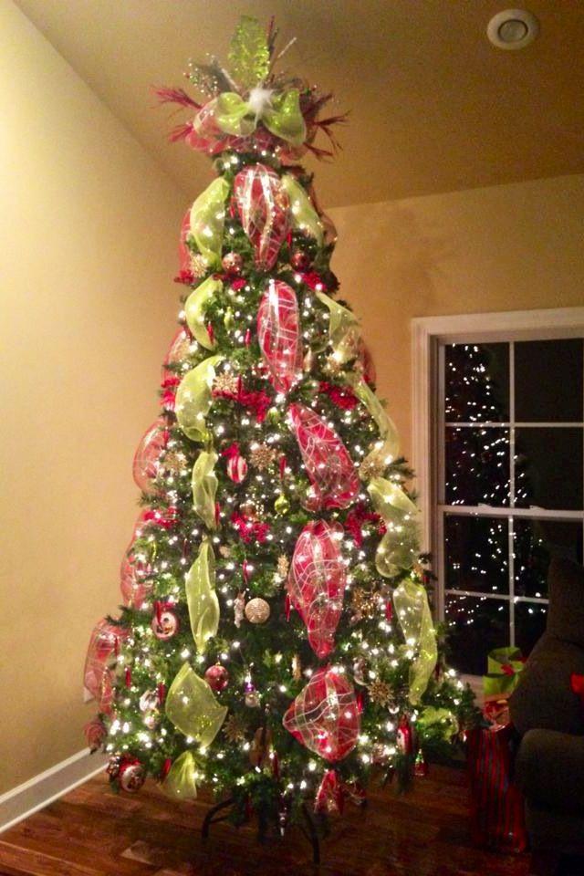 Deco Mesh Christmas Tree